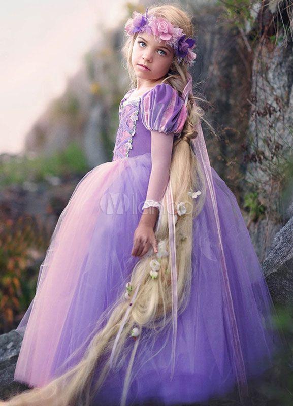 Tüll Blume Mädchen Kleid Maxi Prinzessin Festzug Kleid Ball Gown Kleinkind bodenlangen Abendessen Kleid