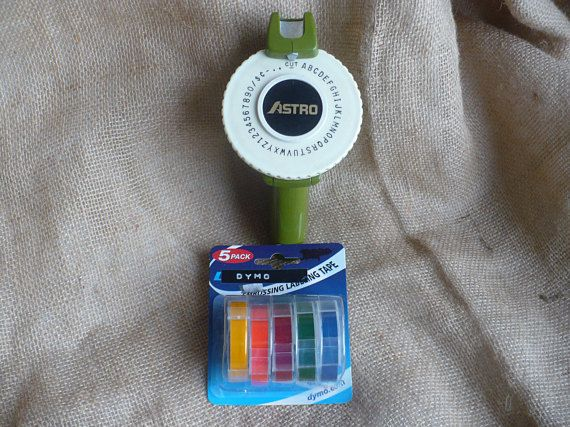 Vintage Astro Embossing Label Maker with 5 Rainbow Pack of