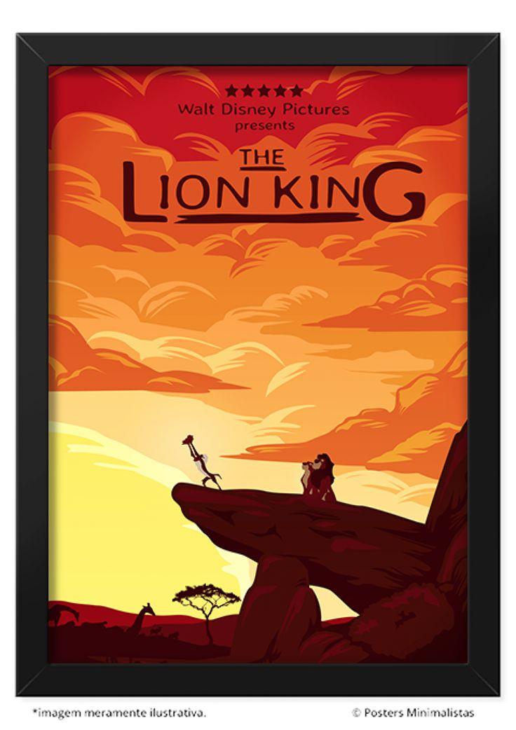 O Rei Leão - Mais Vendidos | Posters Minimalistas
