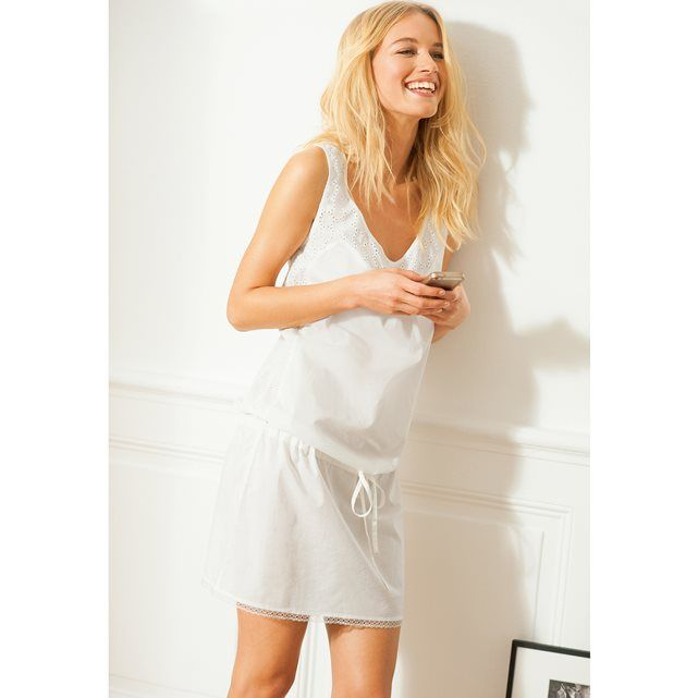 image Nuisette coton, broderie anglaise LOVE JOSEPHINE