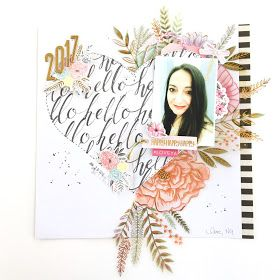 Hello 2017 Scrapbook Layout by Angela Tombari Meeting Asi Veneto 29 gennaio 2017