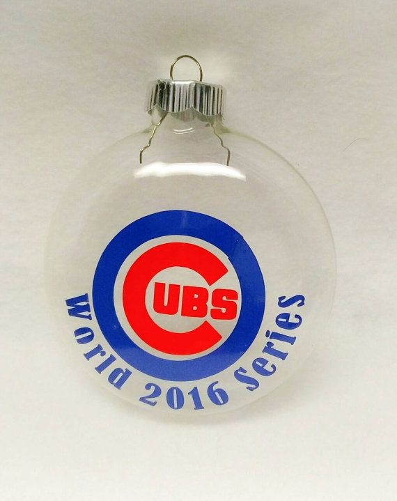 Chicago Cubs World Series Champions 2016 - Baseball - Cubs Fans - christmas Ornament -  https://www.etsy.com/listing/489399863/chicago-cubs-christmas-ornament-world