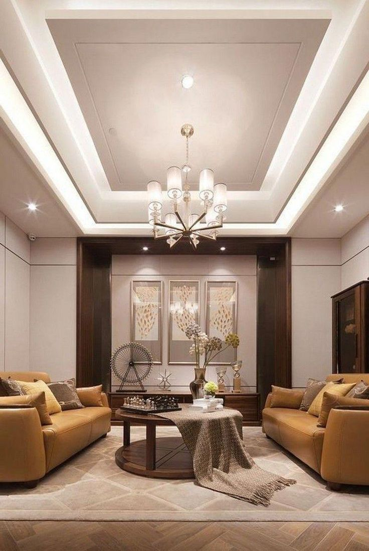 65 New False Ceilings with Cove Lighting Design for Living ...