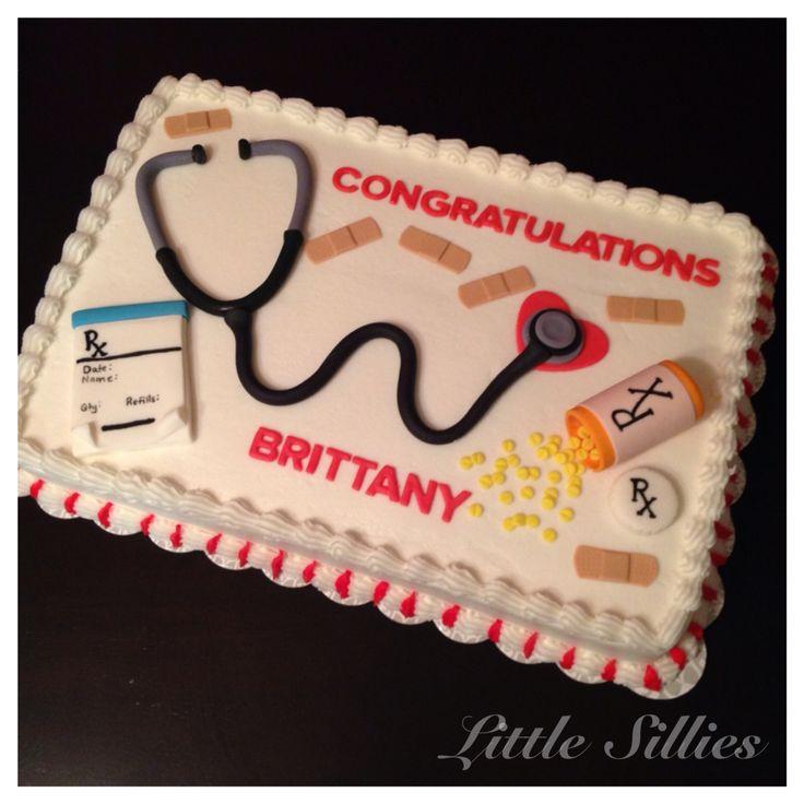 Nurse practitioner graduation cake