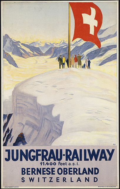 Jungfrau-Railway. Bernese oberland by Boston Public Library, via Flickr