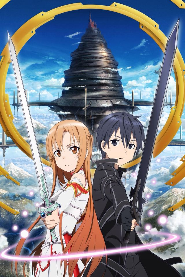Sword art online kirito and asuna iPhone/iPod wallpaper