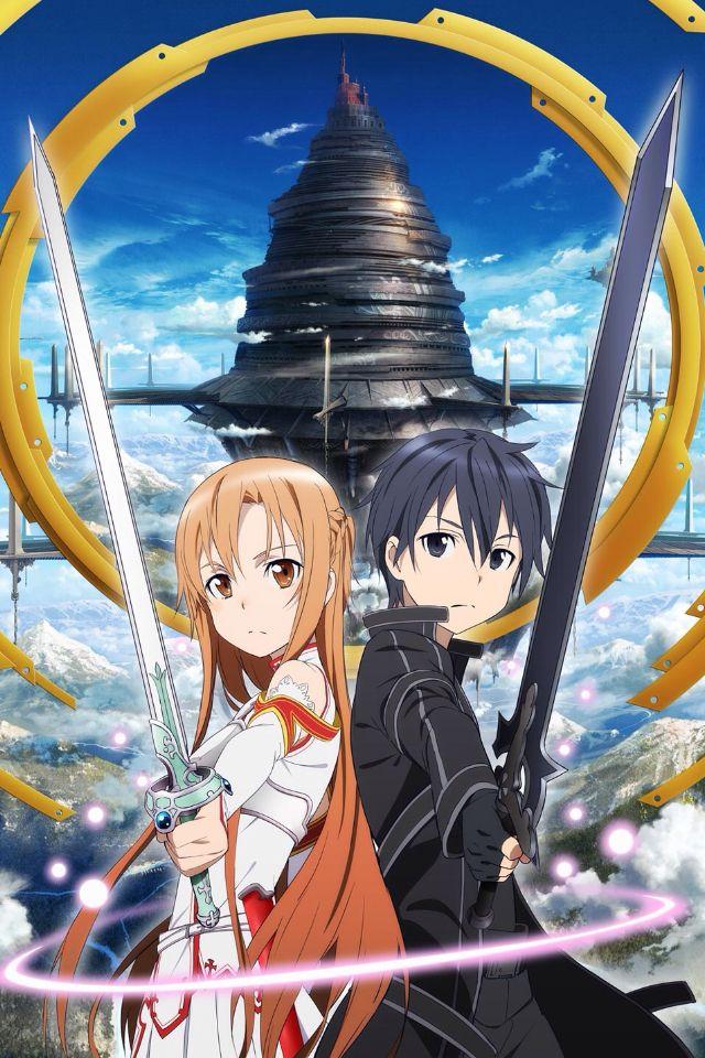 Sword art online kirito and asuna iPhone/iPod wallpaper