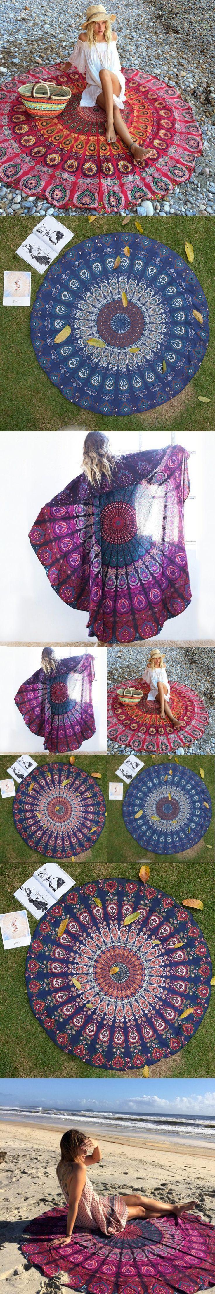 Chiffon round shawl wrapped skirt yoga mat beach towel shawl beach mat wall Anti-sunburn saida de praia suooprt wholesale