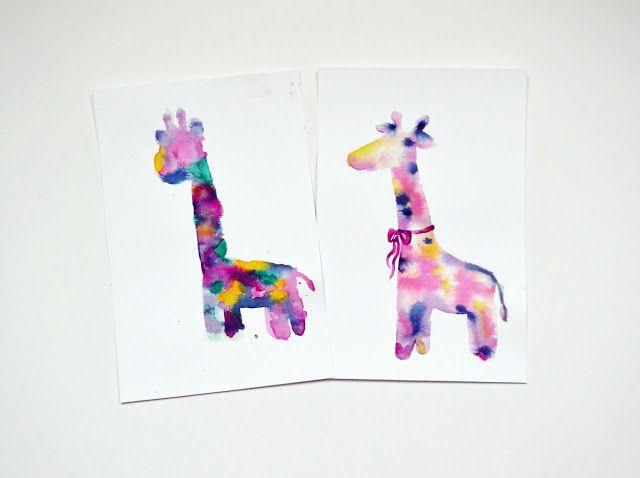 Jul and Joy!: Mom vs Doughter: Watercolour Giraffe