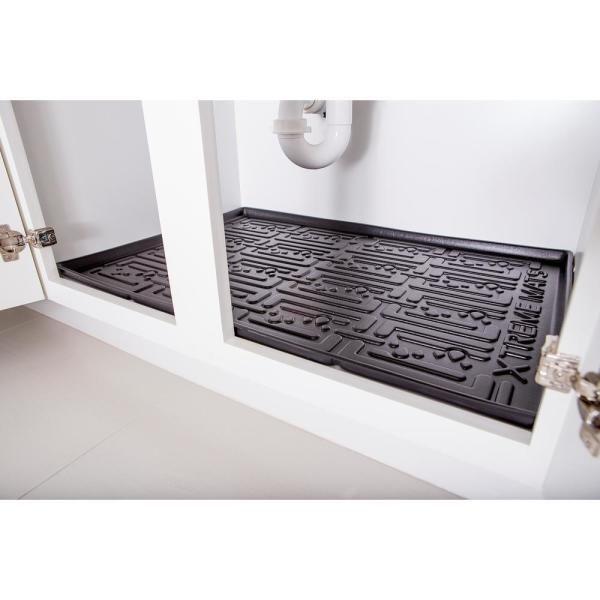 Xtreme Mats Black Kitchen Depth Under, Kitchen Cabinet Shelf Liner Home Depot