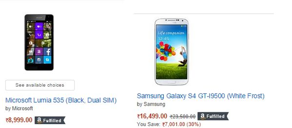 #Amazon offering Up to 40% off on #Smartphones