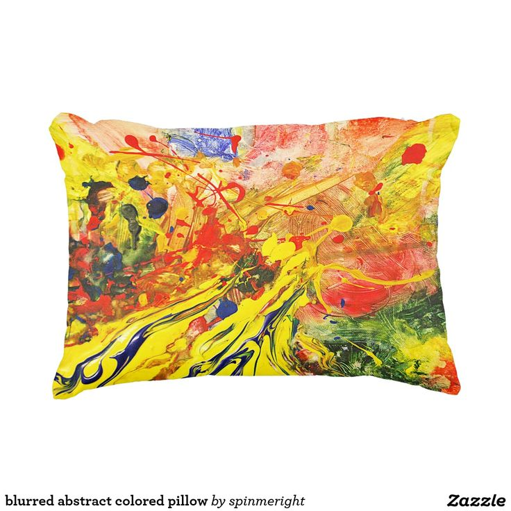 blurred abstract colored pillow accent cushion