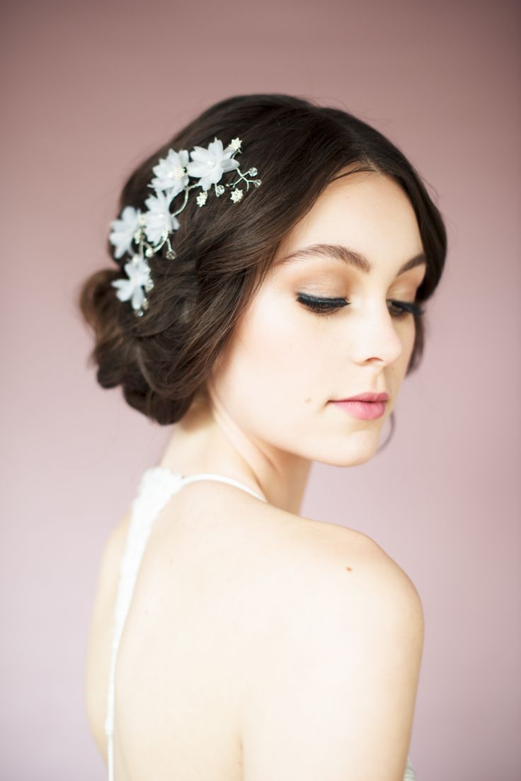 Swoon over jannie baltzer s wild nature bridal headpiece collection -  Sunny Silver Floral Hair Vine Blair Nadeau Millinery 2015 Collection Photography By Whitney Bridal Headpiecesbridal Hairfloral