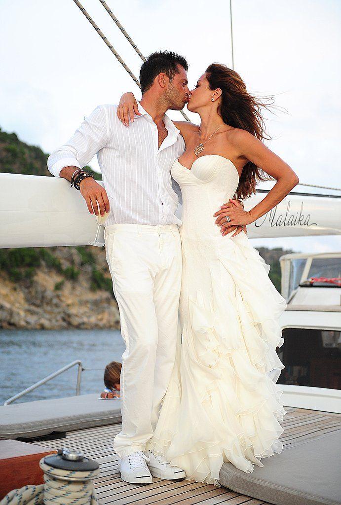 Brooke Burke Wedding To David Charvet In St. Barts Pictures | POPSUGAR  Celebrity