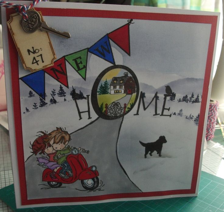 New Home card for scooter mad son