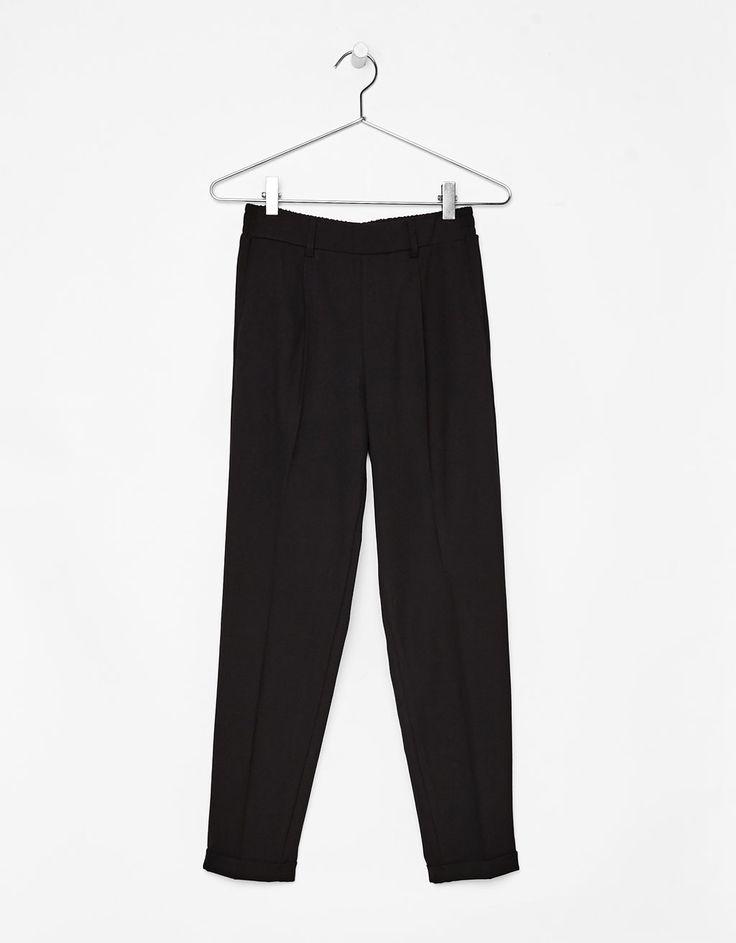 Pantalon tailleur jogging à pinces - Pantalons - Bershka France
