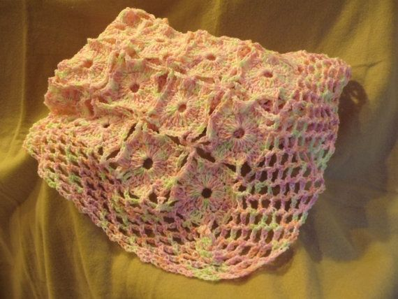 Pink Lacey Baby Blanket at BobbiPassTIme on Etsy