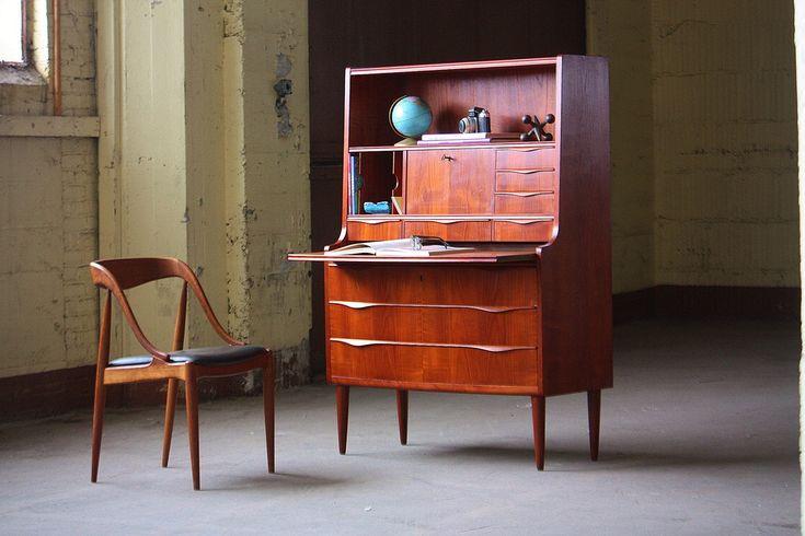 Awesome Danish Midcentury Modern Teak Tall Secretary Desk Cabinet (Denmark, 1960s) | Flickr - Photo Sharing!