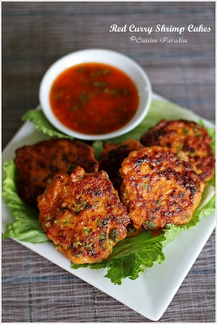 Red Curry Shrimp Cakes: Red Curries, Food Blogs, Cuisine Paradise, Easy Thai, Robert Danhi, Cakes Recipes, Curries Shrimp, Cooking, Shrimp Cakes