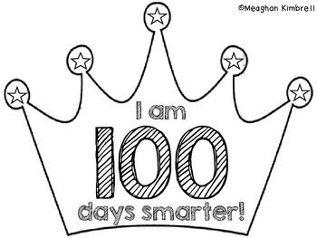 To make your 100th Day of School Crown, just print and copy for each of your students.  Let them color and cut out the crown and then staple it to a sentence strip to make an official crown! :) Happy 100th Day! Meaghan Kimbrell http://mrskimbrellsclass.blogspot.com