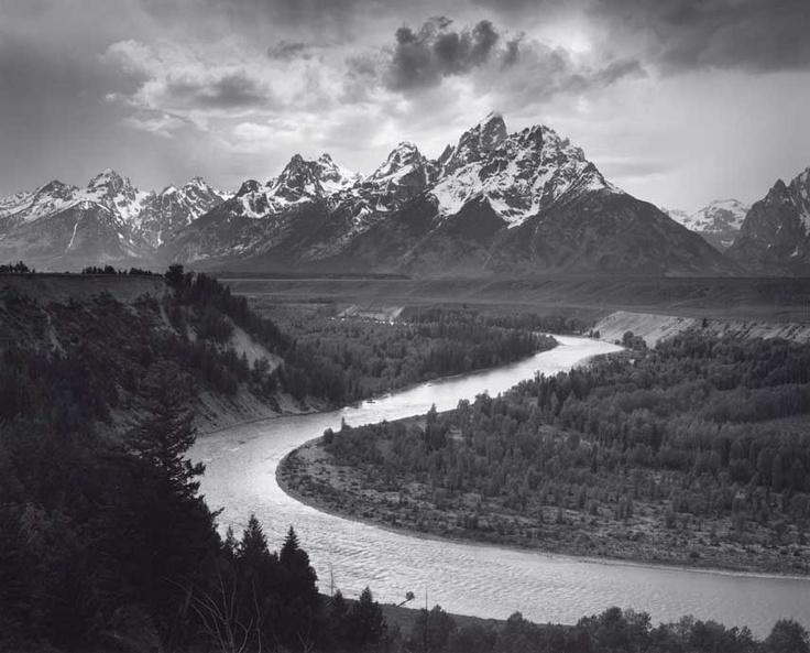 Ansel Adams: The Tetons and the Snake River, Grand Teton National Park, Wyoming…
