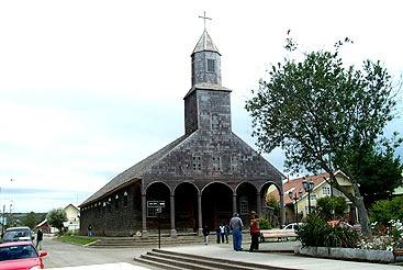Iglesia Santa Maria de Achao, Chiloé, Chile