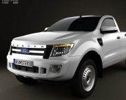 Ford Ranger Single Cab 2012 3d model