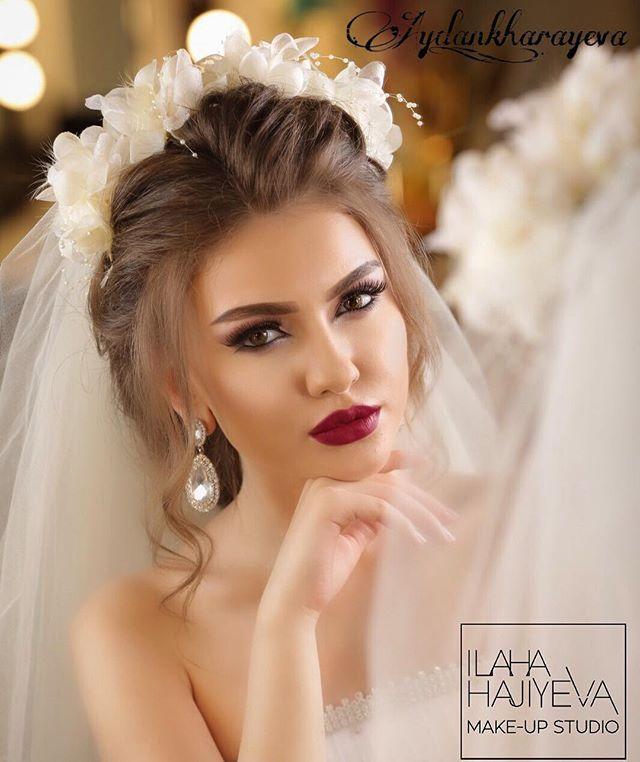WEBSTA @ aydan_kharayeva - Make up by mee..hair style by @stilist_turkan  @ilahahajiyeva @ilahahajiyeva_fan @ilahahajiyeva_makeup_studio @vegas_nay @hudabeauty @makeup_clips @instabeauty @beauty @makeupblogger @samerkhouzami Gelin sac makiyajin  karona kirayesin 150azn etdik telesin gozel gelinlerimiz