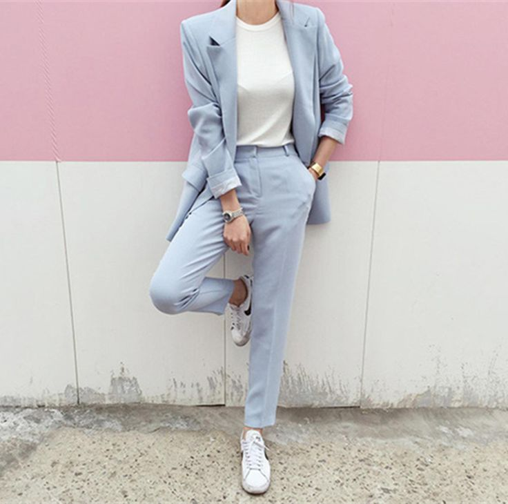 Rugod 2017 New Autumn Elegant Office Women Blazer Suits 2 Two piece sets Solid Blazer Femme Long Sleeve Suit Blazer and Pants-in Pant Suits from Women's Clothing & Accessories on Aliexpress.com   Alibaba Group