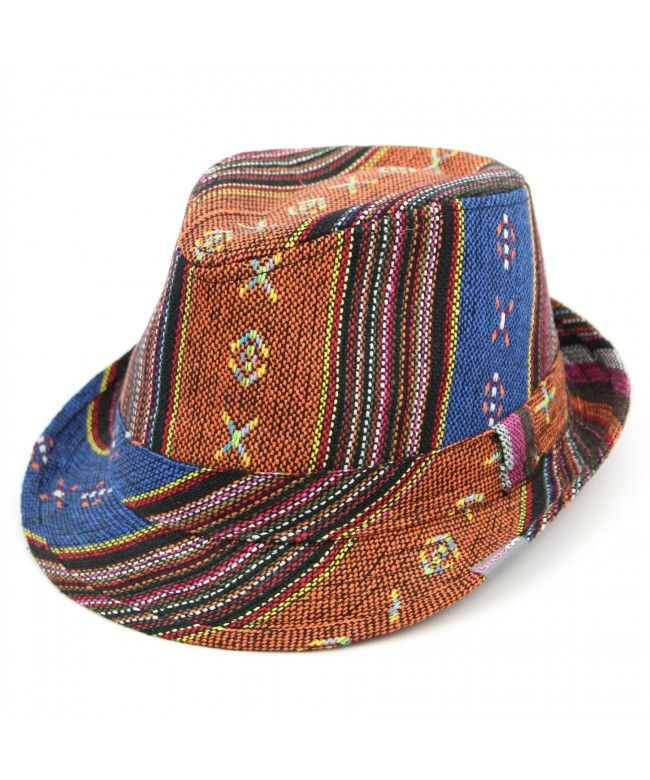 LOUDelephant Colourful pattern trilby hat - Orange