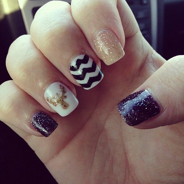 14 best nexgen nails images on pinterest nail design nail art nexgen white dark glitter and gold glitter nail ideasstylegold prinsesfo Image collections