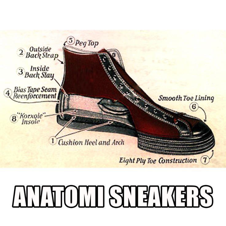 Ardiles Sneakers Lovers, tubuh kita punya anatomi. Ternyata, sneakers kesayangan kita juga punya anatomi lho! Setiap komponen Ardiles Sneakers membuat kaki kita happy saat memakainya. Yuk simak anatomi sneakers :D