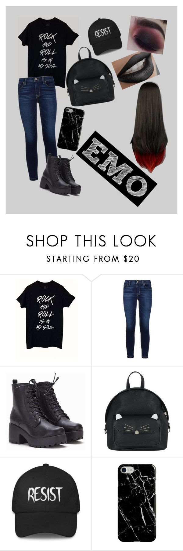 """""""EMO"""" by dtq101 ❤ liked on Polyvore featuring CENA, Hudson, Accessorize and Recover"""
