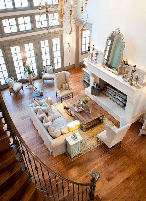 : Living Rooms, Decor Ideas, Dreams Houses, Open Spaces, Furniture Arrangements, Window, Fireplaces, Home Decor, High Ceilings