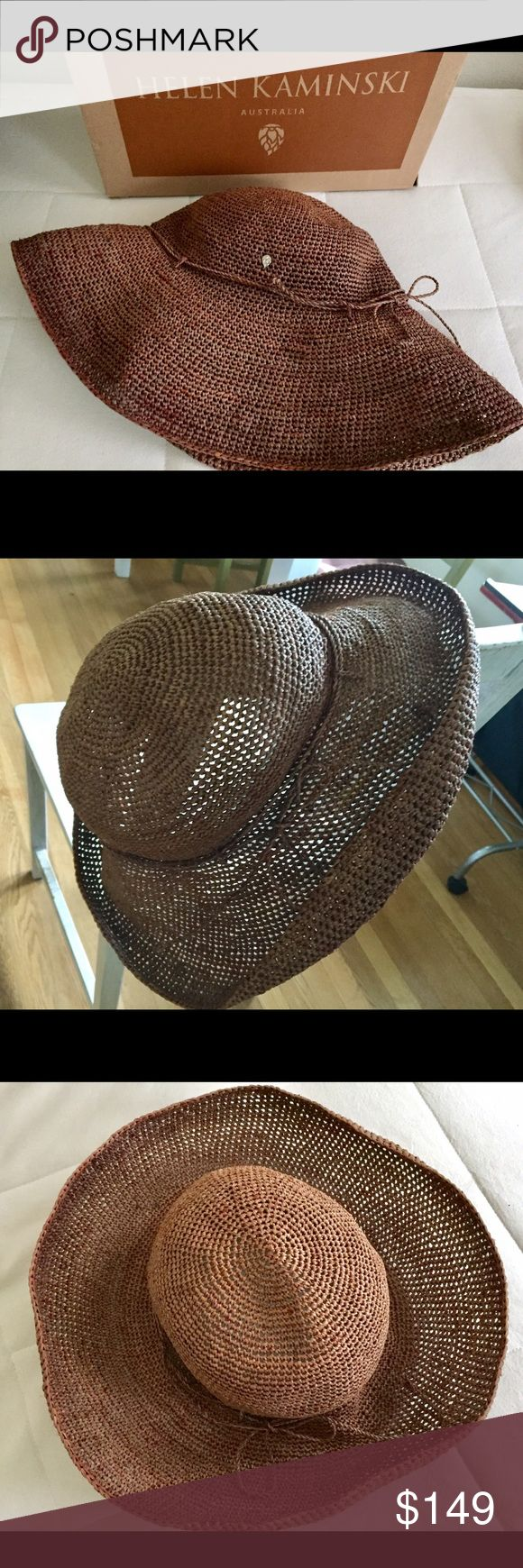 """Helen Kaminski Raffia Provence Hat 12"""" Bark Excellent pre-owned Condition. No inner band attached. Helen Kaminski Accessories Hats"""