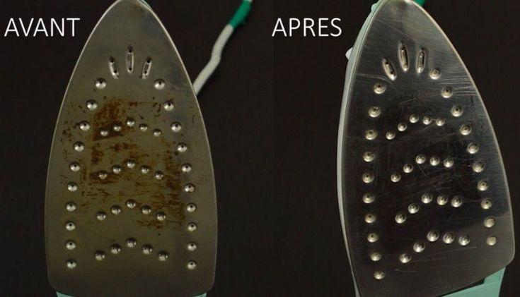 La semelle de votre fer à repasser ne ressemble plus à rien ? Voici comment la nettoyer !