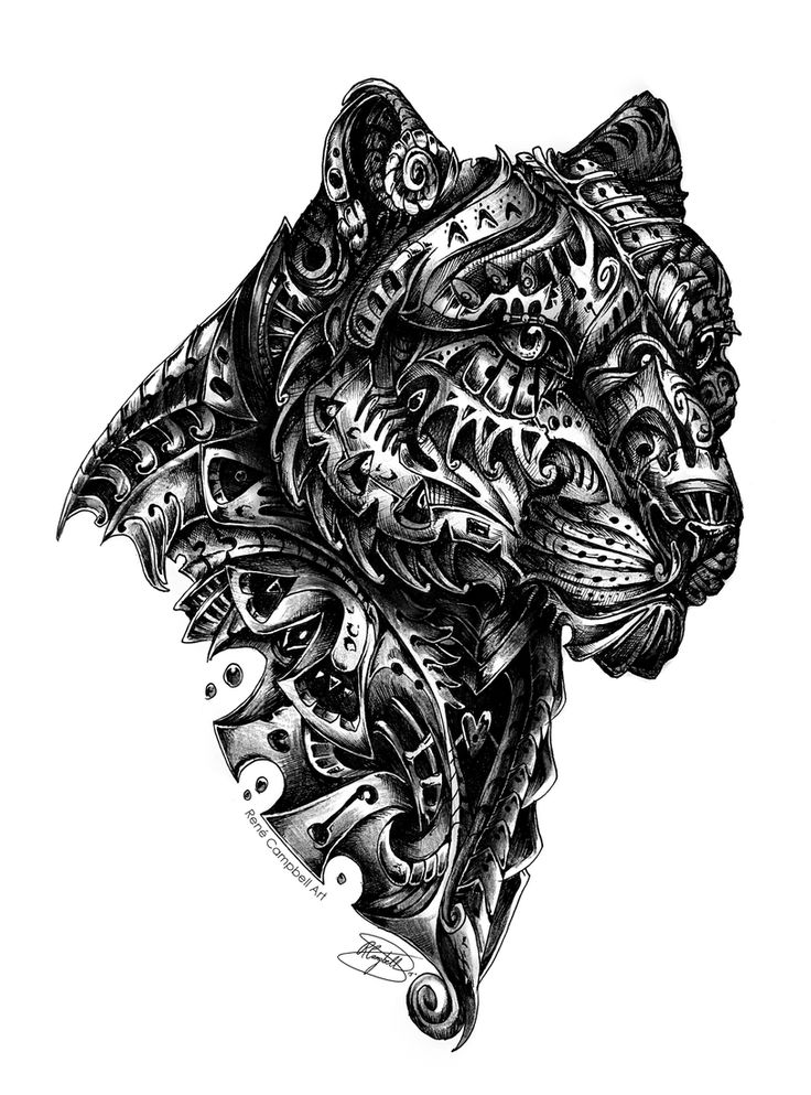 Snow Leopard Art in Detailed Animal
