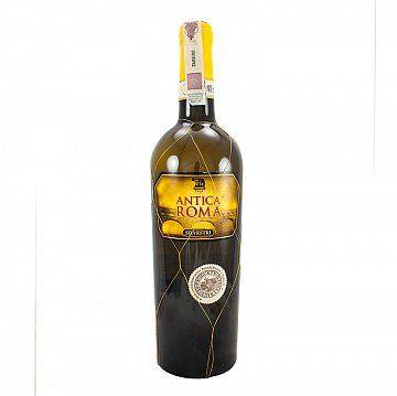 WINO ANTICA ROMA DOC  - Wino to powstałow hołdzie tradycji cywilizacji rzymskiej, która upowszechniła winorośl i kulturę wina w Europie. Żółto złocisty lśniący kolor. Miękki bukiet świeżo dojrzałych owoców z...