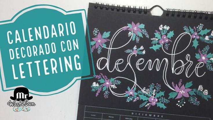 Calendario decorado con Lettering Desembre - Diciembre