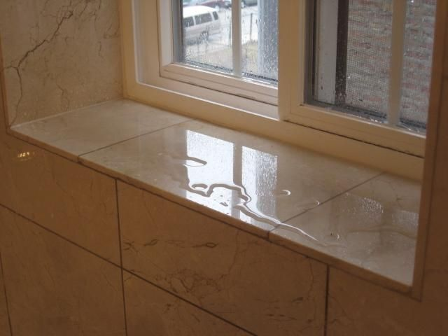 Window Sill If Window Located Within The Shower Stall Tub Area Should Be Sloped Towards The