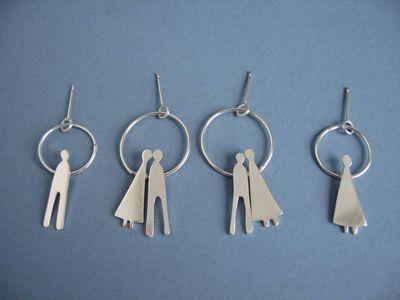 people hoop earrings