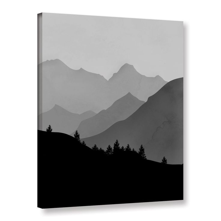 Mountain I by Amy Cummings Painting Print on Gallery Wrapped Canvas