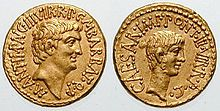 This is me on the left and Octavian on the right coin.
