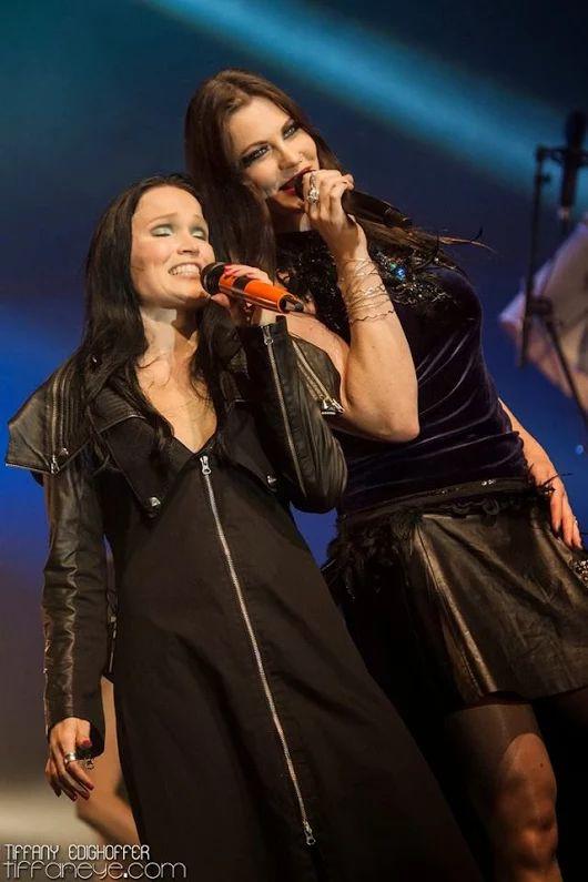 Tarja Turunen and Floor Jansen