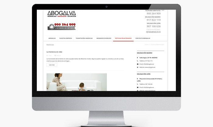 http://www.basicum.es/portfolio-item/diseno-web-abogados-abogalva/ Diseño web de páginas de abogados y bufetes creado por Basicum.es