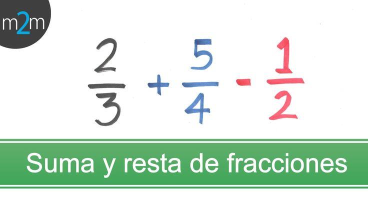 Suma y resta de fracciones con diferente denominador │MCM