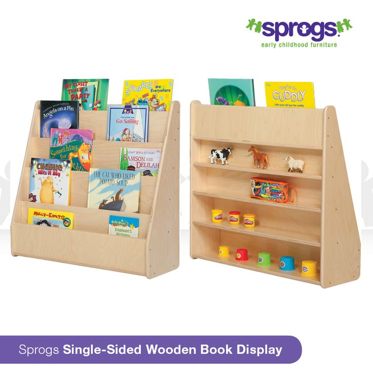Put your best book forward with our Sprogs Single-Sided Wooden Book Display.  Curate