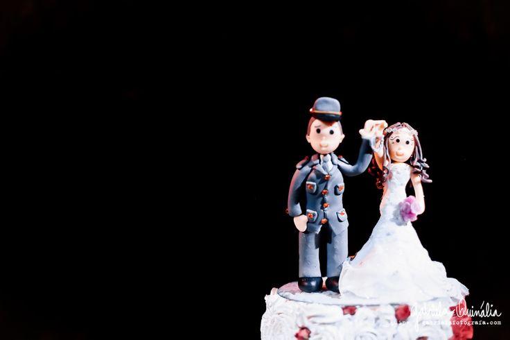 Topo de Bolo em casamento no Buffet Ravena Garden
