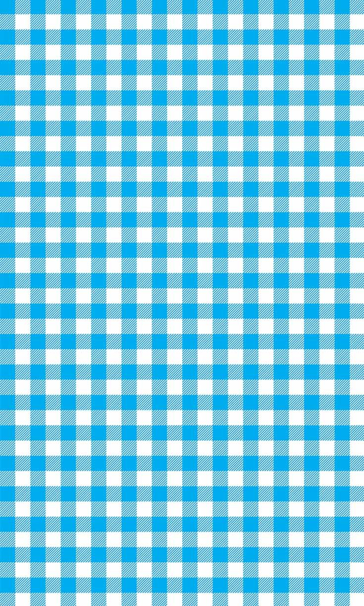 Blue Tablecloth Seamless Pattern Vector Illustration Of