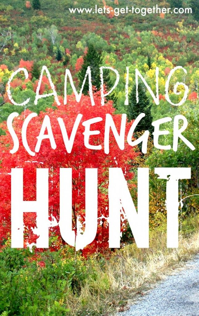 Camping Scavenger Hunt from Let's Get Together - #freeprintable #scouts #camping